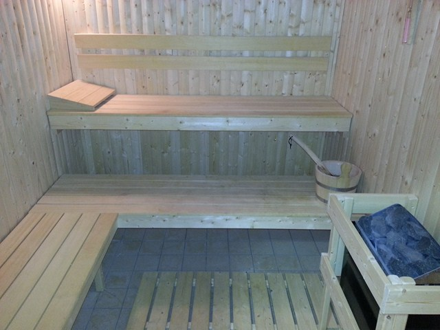 Sauna at The Mill Fitness Suite Fiddington Bridgwater Somerset